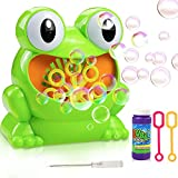 #4: Gifort Frog Bubble Blower Machine, Automatic AA Battery Powered (Battery Not Included) Bubble Machine Cute Shape High Output Portable Ideal Toys Gift for Kids