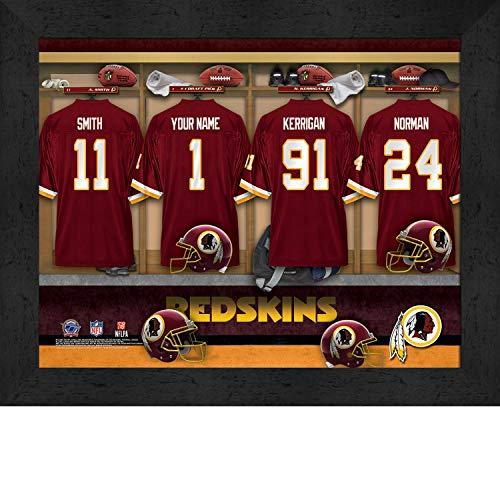 Room Nfl Locker Washington Redskins (Washington Redskins Personalized NFL Football Locker Room Jersey Framed Art Print 13x16 Inches)