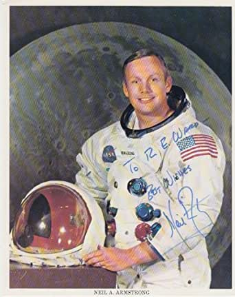 Neil Armstrong (NASA, Inscribed 'to R.E. Ward') Signed 8X10 Photo