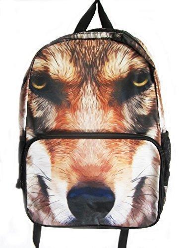 de perro ROSTRO estampado Mochila/ mochila Mochila Escolar Viaje Corto