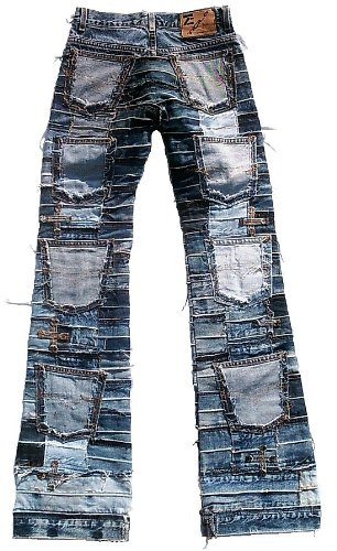 Azul Designer Denim Mujer Miss Jeans Star Patchwork Rock Seven Ticila wpzYXqnSq