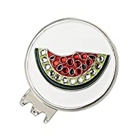 PINMEI Magnetic Golf Hat Clip with Bling Fruit Golf Ball Marker