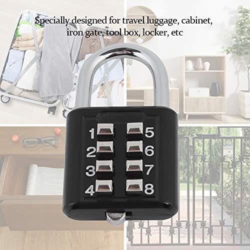 Candado Cerradura Codigo Luggage Password Combinación Dígitos Sin 8 Llave Contraseña Lock Ashata De fxnB4dXX