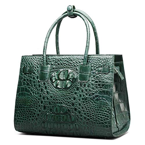 Main à de Dames WWAVE Femme green à Sacs clocharde Le Cuir Sac Main pour C Crocodile YW8gTzHn8