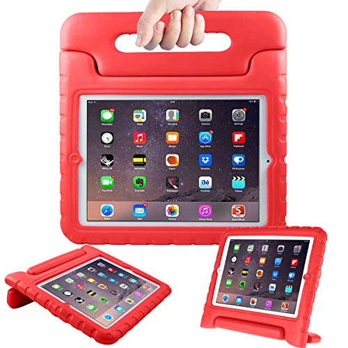 AVAWO Kids Case for Apple 9.7 iPad 2 3 4 - Light Weight Shock Proof Convertible Handle Stand Kids Friendly for iPad 2, iPad 3rd Generation, iPad 4th Generation Tablet - Red