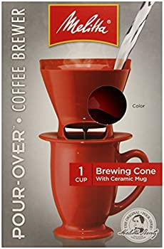 4-Pack Melitta Single Cup Pour-Over Coffeemaker w/Brewing Cone