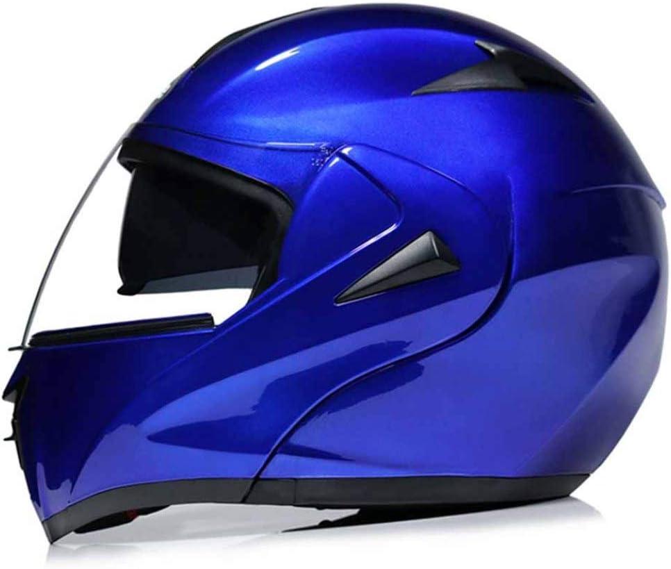 Hombres Mujeres Racing Motocross Cascos Modular De Doble Lente De Cara Completa Moto Protección De Seguridad Gorras Abs Carretera Casco De Moto