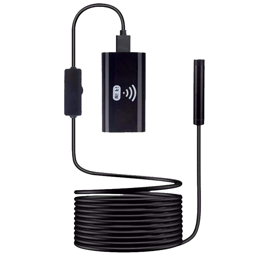 NDY Endoscope Portable HD Long Distance 6 LED Lights Waterproof WiFi Direct Connect Pipe Car Detection Tool Pixel: 200W Display: Mobile/All Mobile Devices