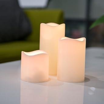 3er Led Kerze Flammenlose Für Innen Und Außen Batteriebetrieben Led