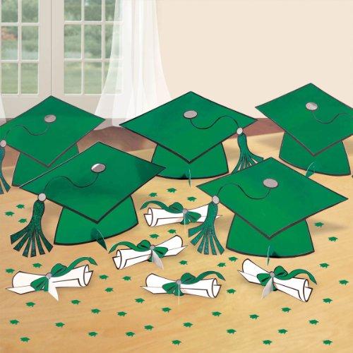 Green Graduation Table Decorating -
