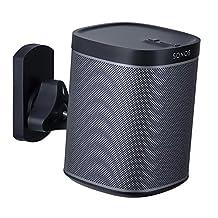 Mount-It! SONOS Speaker Mount Wall Bracket for SONOS PLAY:1 and SONOS PLAY:3 Tilt/Swivel Adjustable, Black 22 Lbs Capacity (MI-SP08)