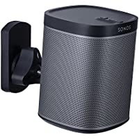 Mount-It! SONOS Speaker Mount Wall Bracket for SONOS PLAY:1 and SONOS PLAY:3 Tilt/Swivel Adjustable, Black 22 Lbs Capacity (MI-SP08)