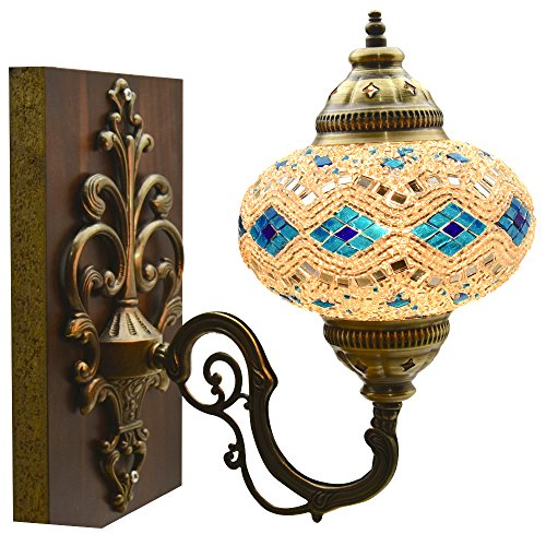 Sconce Light Mosaic (Mosaic Sconce,Mosaic Lamp,Turkish Mosaic Sconce,Sconce)