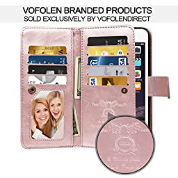 iPhone 6S Case, iPhone 6 Case, Vofolen 2 in 1 iPhone 6S Wallet Case Folio Flip PU Leather Case Magnetic Detachable Slim Back Cover Hard Case Card Holder Wrist Strap for iPhone 6 6S 4.7 inch -Rose Gold