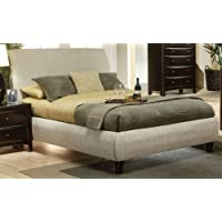 Coaster Phoenix Upholstered Bed in Tan - Queen