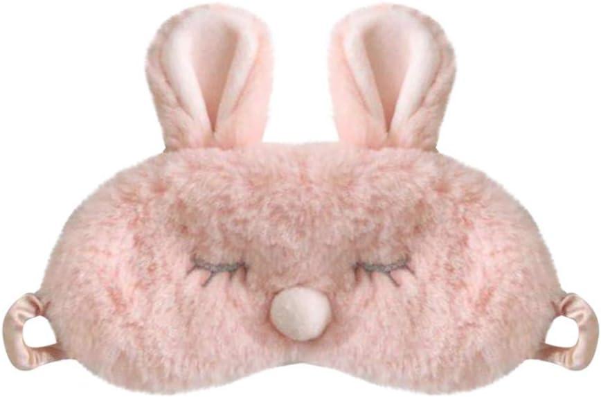 Masque de Sommeil Mignon 3D Moelleux Masque pour Les Yeux Des Animaux Maison Lit Voyager Vol de Voiture Camping Utiliser pour Enfants Adultes Femme G