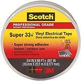 Scotch Super 33+ Vinyl Electrical Tape, .75-Inch x 66-Foot x 0.007-Inch, 10-Pack
