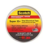 Scotch Super 33+ Vinyl Electrical Tape, .75-Inch x 66-Foot x 0.007-Inch, Pack of 10