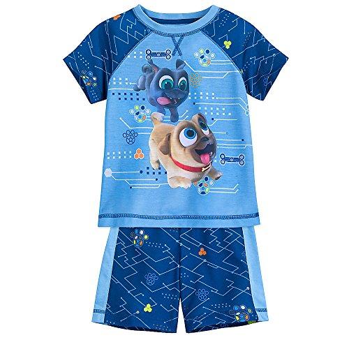 Disney Puppy Dog Pals Shorts Sleep Set for Boys Size 5/6 -