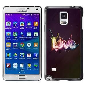 Be Good Phone Accessory // Dura Cáscara cubierta Protectora Caso Carcasa Funda de Protección para Samsung Galaxy Note 4 SM-N910 // Effects LOVE