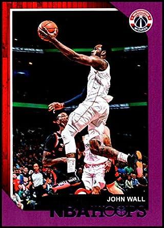 166a6099ca3 2018-19 NBA Hoops Purple  19 John Wall Washington Wizards Official Trading  Card made