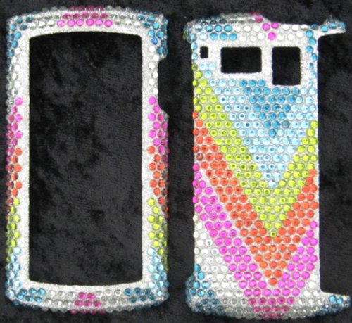 FULL DIAMOND CRYSTAL STONES COVER CASE FOR SANYO INCOGNITO 6760 RAINBOW - Sanyo Hard Faceplates