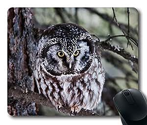 Boreal Owl Cool Comfortable Gaming Mouse Pad