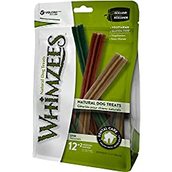 Whimzees Natural Grain Free Dental Dog Treats, Medium Stix, Bag Of 14