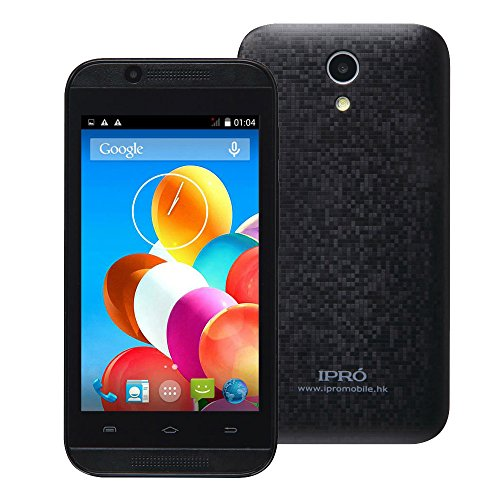 "IPRO i9403 4"" GSM Unlocked Smartphones International Version - Protective Film and TPU Case Included (Black)"
