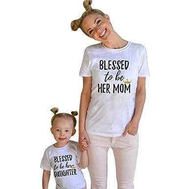 Mutter und Tochter Kleid,LUCKDE Kleider Kinder Strand Shirts Damen ...