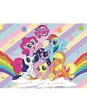 Baby Shower Decor My Little Pony - Pancarta de fondo, diseño de poni para niña, cumpleaños, baby shower, tartas, decoración de mesa de jardín de infancia, fiesta de cumpleaños (1,5 x 2,1 m)