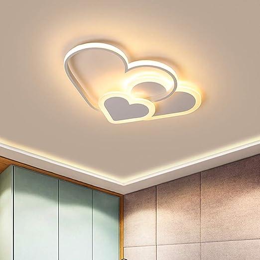 Lampadari Design Camera Da Letto.Led Plafoniera Cuore Lampada Da Soffitto Ragazze Bambini Camera