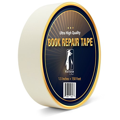 (White Bookbinding Tape, Extra Long White Cloth Book Repair Tape for Bookbinders, 1.5 Inches by 150 Feet)