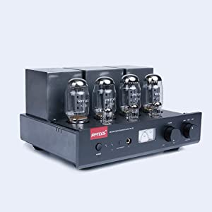 RFTLYS - A2 - KT88 - Vacuum Tube Stereo Integrated Amplifier with Headphone Amp Output Bluetooth Input Black