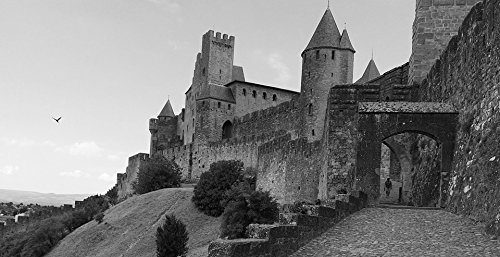 France Porte - Home Comforts LAMINATED POSTER Carcassonne Medieval City Entry France Porte D'aude Poster 24x16 Adhesive Decal