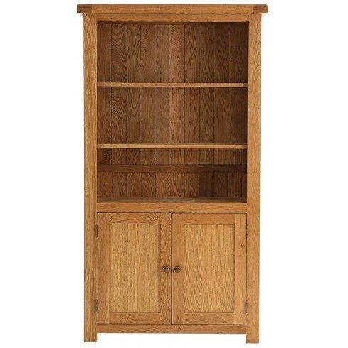 Pembroke Eiche Möbel groß Bücherregal Schrank mit 2Ablagen & 2Türen