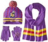 Accessory Innovations Girls' Kids Cold Weather Beanie Glove and Scarf Set