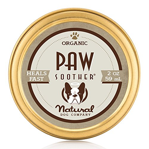 NaturalDog.com PAW SOOTHER | Organic, All-Natural | For Healing Dry Cracked Dog Paw Pads | 2 oz Tin