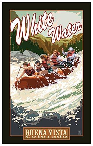 Buena Vista Colorado White Water Rafting Travel Art Print Poster by Mike Rangner (12