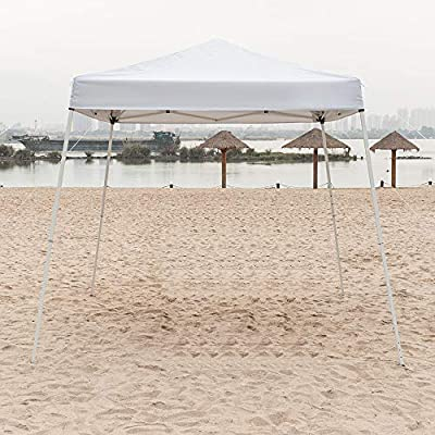 Goujxcy Outdoor Pop-Up Canopy Tent, 8 x 8 Feet Portable Shade Instant Folding Canopy with Carry Bag : Garden & Outdoor