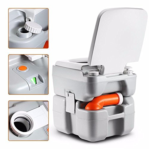 SereneLife Portable Toilet Potty Seat - with Piston Pump Flush, Cover and 5.3 Gallons of Water Tank Capacity for Travel, Camping, Hiking & Other Outdoor or Indoor Activities - SLCATL320 by SereneLife (Image #3)