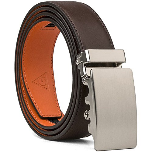 orange dress brown belt - 7
