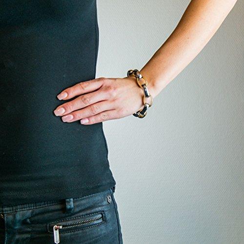 Bijou en argent - Forçat ovale bicolore