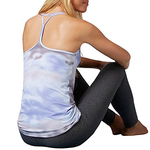 Reebok Damen Yoga Cloud Print Racerback Tank Top
