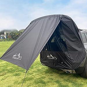 GJCrafts Carpa de Maletero para Coche, Impermeable A Prueba de Viento Anti Mosquito Anti-UV Refugio del Sol del toldo del Coche para Acampar al Aire Libre,SUV