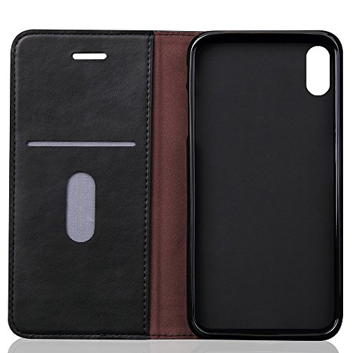 X Leather Stand Protective Case Phone Folio Cover Flip inches Wallet iPhone 8 View 5 PU AqFAwRd