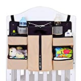 Baby Cot and Change Table Packages OOFYHOME Storage Bag Baby Nursery Organiser Cotton Hanging Storage Bag for Bedside Crib Cot Changing Table , c01b