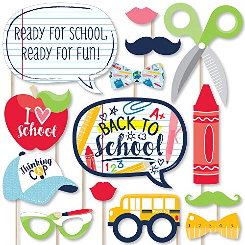 Big Dot of Happiness Back to School - First Day of School Classroom Decorations and Photo Booth Props Kit - 20 Count]()