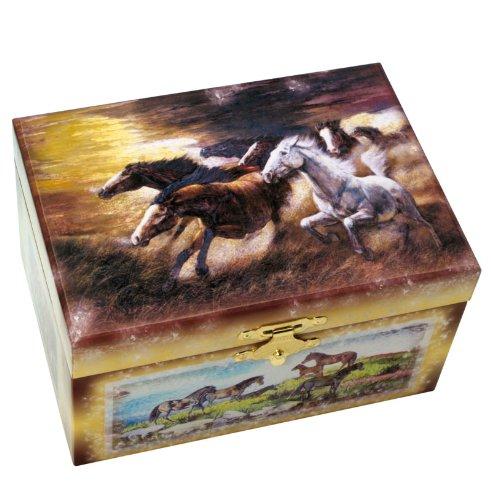 MusicBox Kingdom 28023 Horse Musical Jewelry Box, Playing