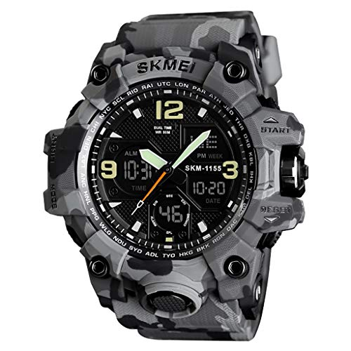 Sports Watch for Men,Futemo Fashuion Sport Dual Display Analog Digital LED Electronic Outdoor Watches Under 30 Dollars